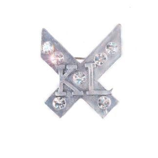 Kingsland D Grenoble plastronspeld zilver